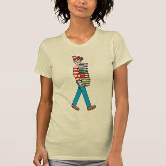 T-shirt Là où est pile le transport de Waldo de livres