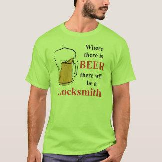 T-shirt Là où il y a bière - serrurier