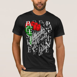 T-shirt La Palestine .3 noir