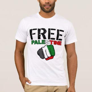"""T-shirt La Palestine libre avec """"de la rivière la citation"""