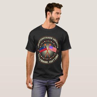 T-shirt La pente d'Américain de Liechtensteiner