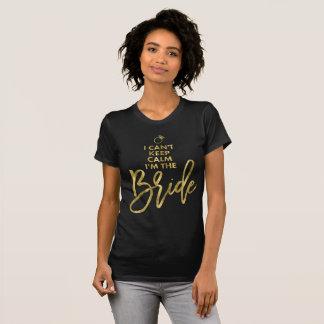 T-shirt La pente de la feuille d'or I gardent le calme Im