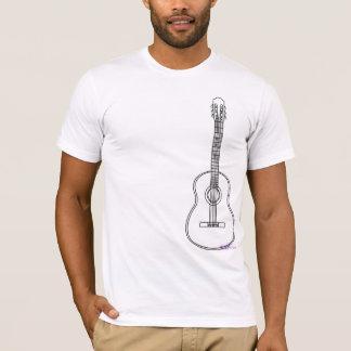 T-shirt la pièce en t acoustique des hommes