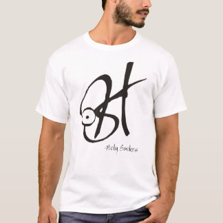 T-shirt La pièce en t blanche des hommes de H.Smokes