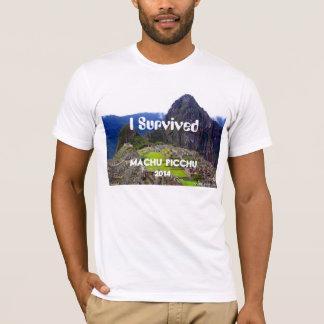 """T-shirt La pièce en t blanche """"j'ai survécu à Machu Picchu"""