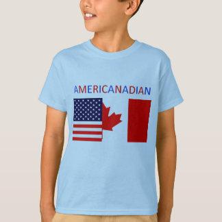 T-shirt La pièce en t bleue des garçons d'AMERICANADIAN 2