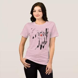 T-shirt La pièce en t d'amour de dames de nuit de la femme