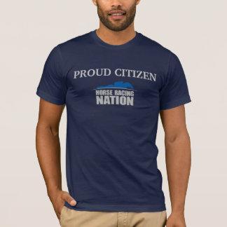 T-shirt La pièce en t de citoyen de course de chevaux des