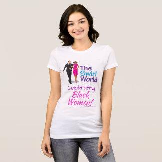 T-shirt La pièce en t de classique de logo du monde de