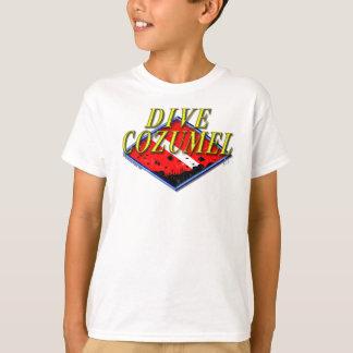 T-shirt La pièce en t de l'enfant de Cozumel de piqué