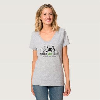 T-shirt La pièce en t de Pasado du V-Cou des femmes