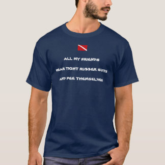 T-shirt La pièce en t de plongeur des hommes de pipi de