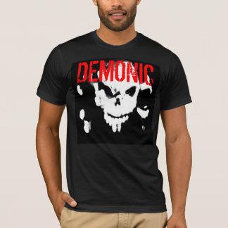 T-shirt La pièce en t démoniaque des hommes adaptés -