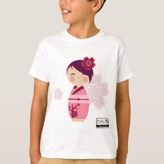 T-shirt La pièce en t des enfants de Kokeshi Sakura