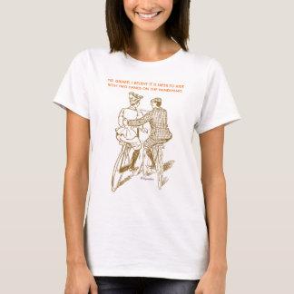 T-shirt La pièce en t des femmes de date de bicyclette -