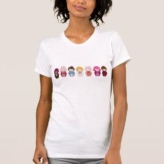 T-shirt La pièce en t des femmes de gâteaux et de bonbons