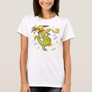 T-shirt La pièce en t des femmes de mardi gras d'alligator
