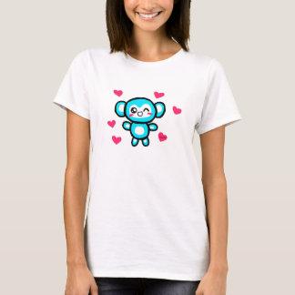 T-shirt La pièce en t des femmes de singe de Kawaii