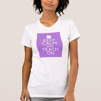 T-shirt La pièce en t des femmes - GARDEZ le CALME ET