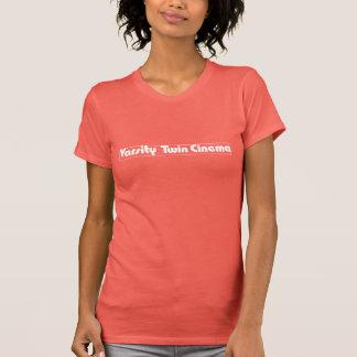 T-shirt La pièce en t des femmes jumelles de cinéma de fac