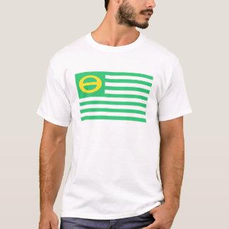 T-shirt La pièce en t des hommes de drapeau d'écologie