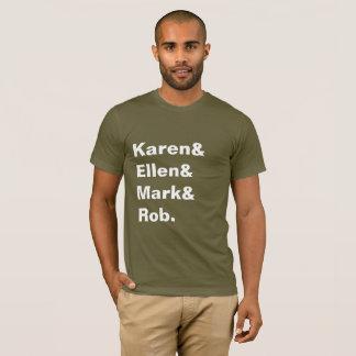 T-shirt La pièce en t des hommes de Karen&Ellen&Mark&Rob