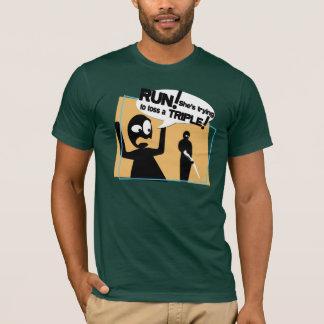 """T-shirt La pièce en t des hommes """"de lancer dangereux de"""