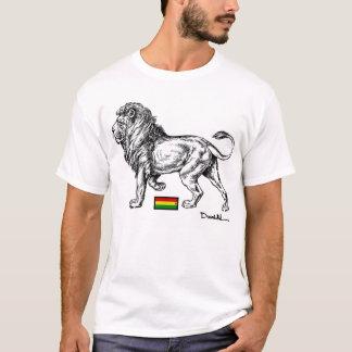 T-shirt La pièce en t des hommes de lion de rasta de