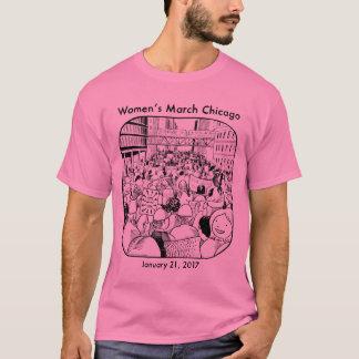 T-shirt La pièce en t des hommes de mars Chicago des