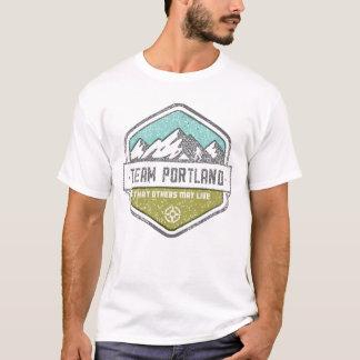 T-shirt La pièce en t des hommes de Portland d'équipe