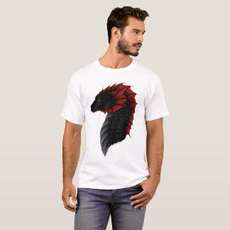 T-shirt La pièce en t des hommes de profil de dragon