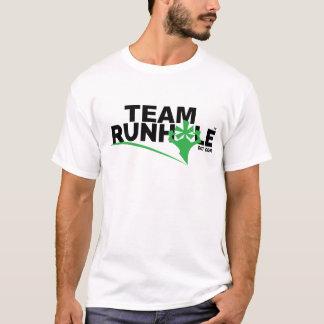 T-shirt La pièce en t des hommes de Runhole