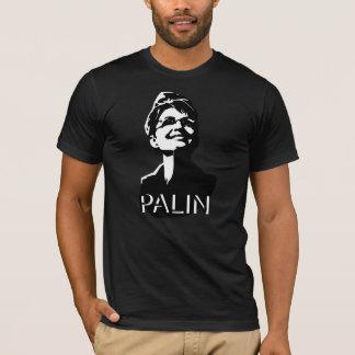 T-shirt La pièce en t des hommes foncés de Palin