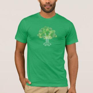 T-shirt La pièce en t des hommes - vert