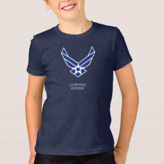 T-shirt La pièce en t du garçon dépendant de l'U.S. Air