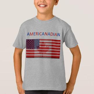 T-shirt La pièce en t grise des enfants d'AMERICANADIAN