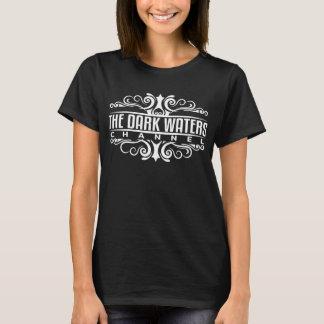 T-shirt La pièce en t noire des femmes foncées de l'eau