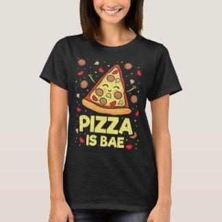 T-shirt La pizza est Bae - bande dessinée drôle mignonne