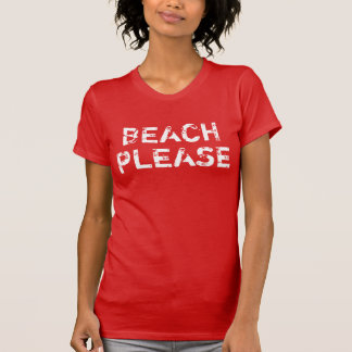 T-shirt La plage vintage des femmes svp
