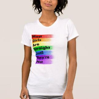 T-shirt La plupart des filles sont droites…
