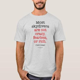 T-shirt La plupart des parachutistes ne sont pas fous