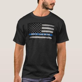 T-shirt La police amincit le dos de drapeau de Blue Line