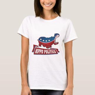 T-shirt La politique d'hippopotame