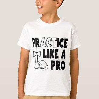T-shirt La pratique aiment un pro, b&w