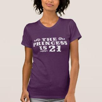 T-shirt La princesse a 21 ans