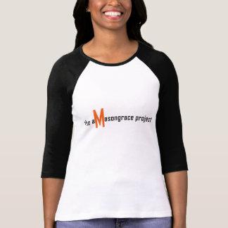 T-shirt La Raglan-douille T-shirt_Black des femmes