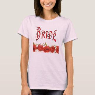 T-shirt La rangée de la jeune mariée (1) des roses