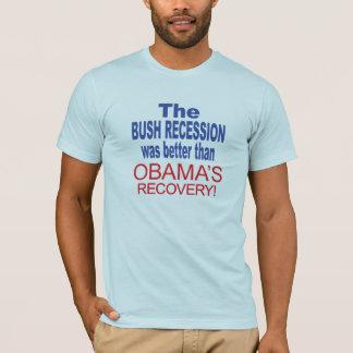 T-shirt La récession de Bush était meilleure qu'Obama