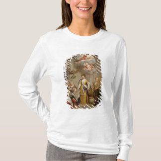 T-shirt La Reine Anne présent des plans des militaires de