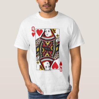 T-shirt La Reine de la carte de jeu de coeurs